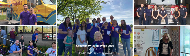 Photos of Community Giving week