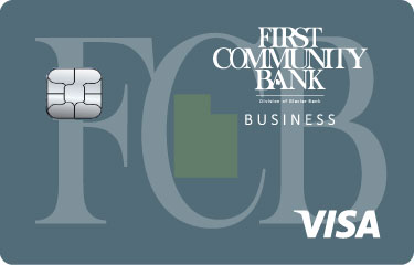 Image of First Community Bank Visa Business Card